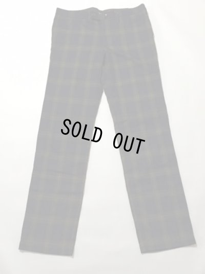 画像1: BASIC SLIM TROUSERS NAVY TARTAN L
