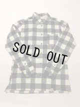 Basic Shirt (BLOCK CHECK FLANNEL) WHITE×BLACK S