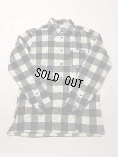 画像1: Basic Shirt (BLOCK CHECK FLANNEL) WHITE×BLACK S