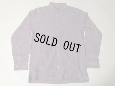 画像1: PURPLE GINGHAM CHECK BUTTON-DOWN SHIRT L