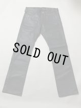 5P DYED LEATHER TROUSERS GREY M