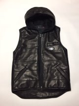 Hoodie Horse leather oil pony Vest [G17-LV01]