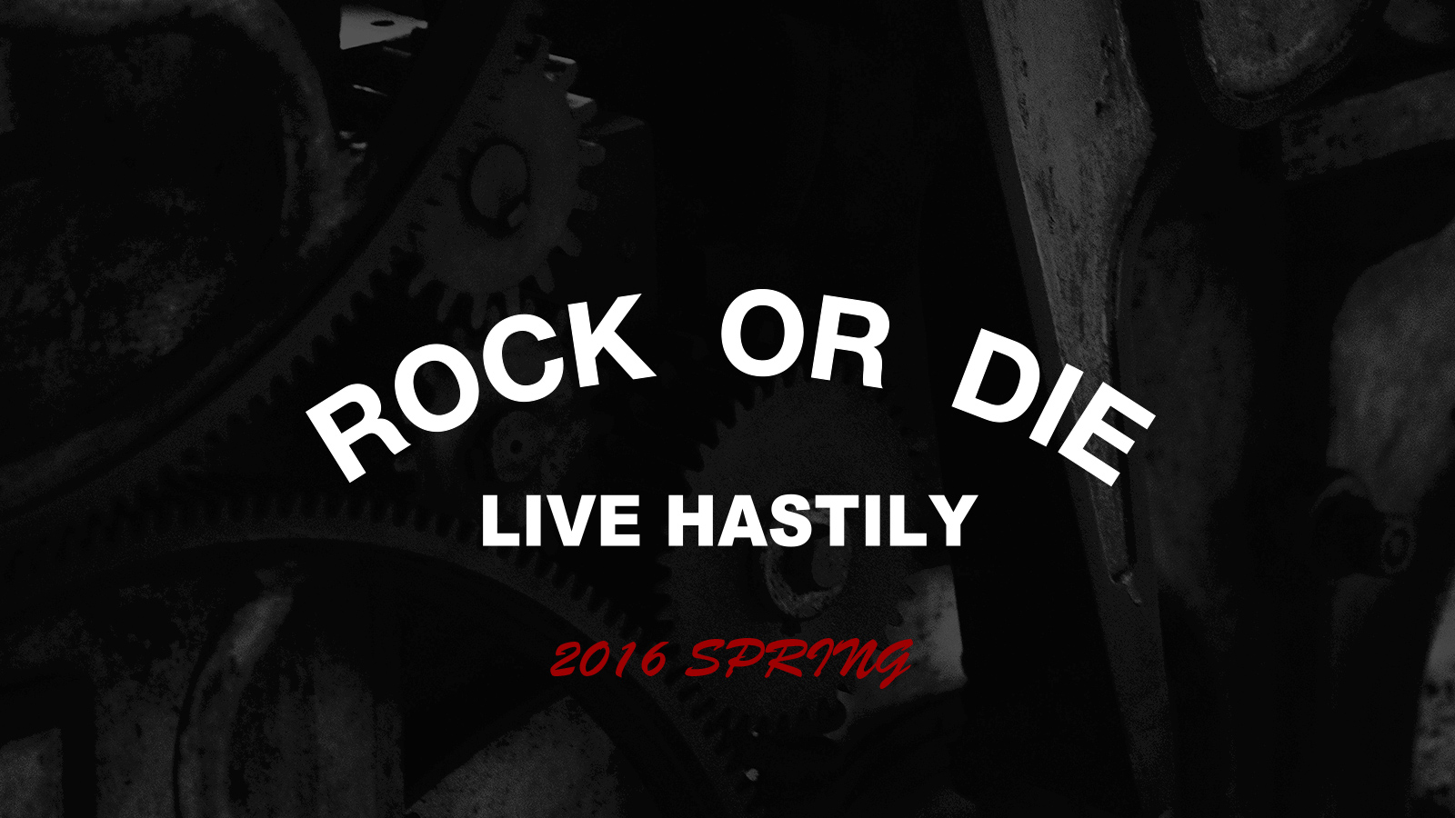 2016 SPRING LIVE HASTILY